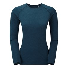 Montane Women's Dart LS Tee | Narwhal Blue