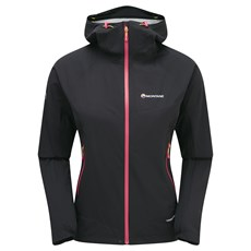 Montane Women's Minimus Stretch Ultra Jacket | Black / Dolomite Pink