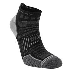 Hilly Twin Skin Socklet | Black / Grey Marl