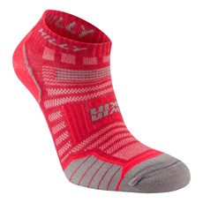 Hilly Women's Twin Skin Socklet | Magenta / Grey Marl