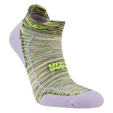 Hilly Women's Lite Comfort Socklet | Lilac / Fluo Yellow