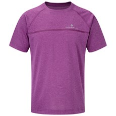 Ron Hill Junior Everyday SS Tee   Thistle Marl