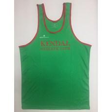 Kendal AC Junior Vest | Green / Red