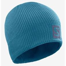 Salomon Logo Beanie | Mallard Blue / Legion Blue