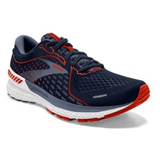 Brooks Men's Adrenaline GTS 21 Wide Fit | Navy / Red / Clay