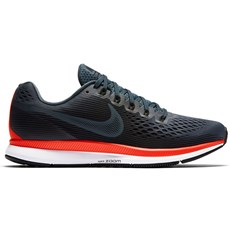 Nike Men's Pegasus 34 | Blue Fox / Black / Bright Crimson