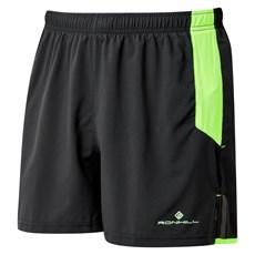 Ron Hill Men's Cargo Short | Black / Fluo Green