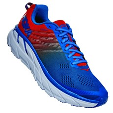 Hoka Men's Clifton 6 | Mandarin Red / Imperial Blue
