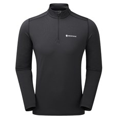 Montane Mens Dart Thermo Zip Neck | Black