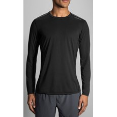 Brooks Men's Distance LS | Black / Heather Black