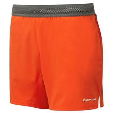 Montane Men's Fang Short | Flag Red / Cloudburst Grey