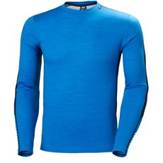 Helly Hansen Men's Lifa Merino Crew | Electric Blue