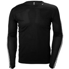 Helly Hansen Men's Lifa Stripe Crew | Black