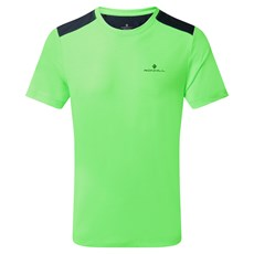 Ron Hill Men's Life SS Tee | Fluo Green Marl / Charcoal Marl