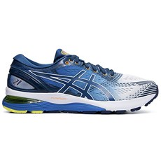 Asics Men's Nimbus 21 | White / Lake