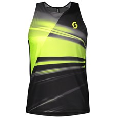 Scott Men's RC Run Tank | Black / Yellow