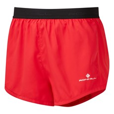Ron Hill Men's Revive Racer Short | Racing Red / Brigh White