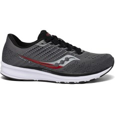 Saucony Men's Ride 13 | Charcoal / Red