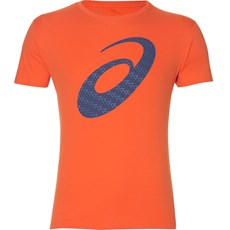 Asics Men's Silver Graphic SS Tee | Nova Orange