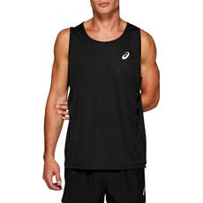 Asics Men's Silver Singlet | Black