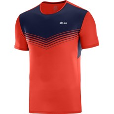 Salomon Men's S-Lab Sense Tee | Racing Red / Night Sky