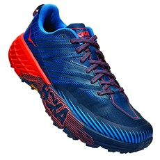 Hoka Men's Speedgoat 4 | Majolica Blue / Mandarin Red