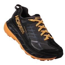 Hoka Men's Stinson ATR 4 | Black / Kumquat