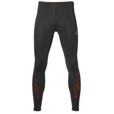 Asics Men's Stripe Tight | Black / Red Clay