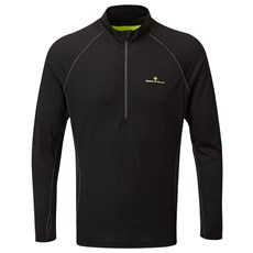 Ron Hill Men's Tech Merino HZ | Black / Fluo Yellow