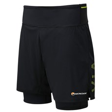 Montane Men's Trail 2SK Short | Black / Laser Green