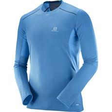 Salomon Men's Trail Runner LS Tee | Hawaiian Surf / Dress Blue