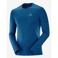 Salomon Men's XA LS Tee | Poseidon / Heather