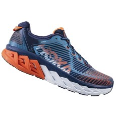 Hoka Men's Arahi | Medieval Blue / Red Orange