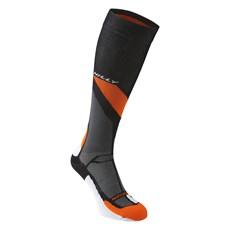 Hilly Marathon Fresh Compress Sock | Black / Orange