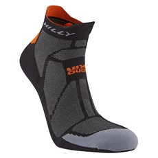 Hilly Marathon Fresh Socklet | Black / Orange