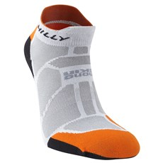 Hilly Unisex Marathon Fresh Socklet | Grey / Orange