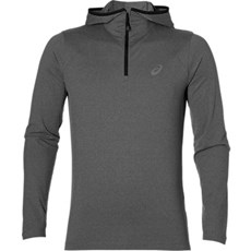 Asics Men's Core LS Hoodie | Dark Grey Heather
