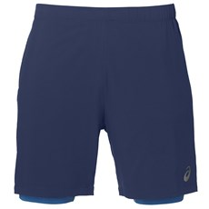 "Asics Men's Core Race 2 in 1 7"" Short 
