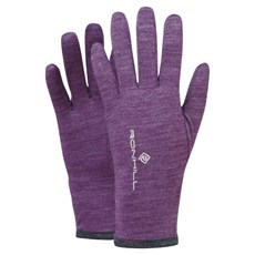 Ron Hill Unisex Merino 200 Glove | Elderberry / Grey Marl