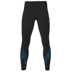 Asics Men's Essential Stripe Tight | Black / Thunder Blue