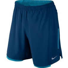 Nike Men's Phenom 2 in 1 Short | Binary Blue / Vivid Sky