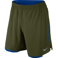 Nike Men's Phenom 2 in 1 Short | Legion Green / Paramount Blue