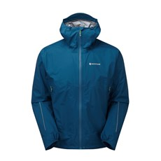 Montane Mens Minimus Stretch Ultra Jacket | Narwhal Blue / Laser Green