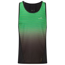Ron Hill Men's Stride Racer Vest | Black / Fluo Yellow