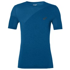 Asics Men's Training Seamless Tee | Thunder Blue / Heather