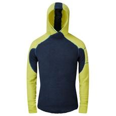 OMM Mens Core+ Hoodie   Navy / Yellow