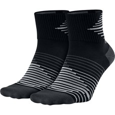 Nike Unisex Lightweight Quarter Sock (2 Pack) | Black / Anthracite