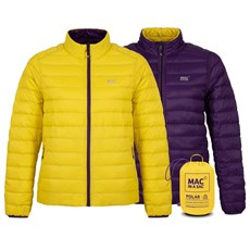 Mac in a Sac Women's Polar Down Reversible Jacket | Yellow / Grape