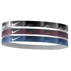 Nike Printed Headbands (3PK) | Black / Wolf Grey / Binary Blue
