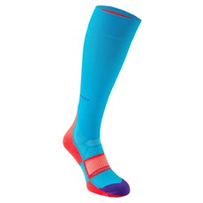Hilly Women's Pulse Compress Sock | Teal / Fluo Pink